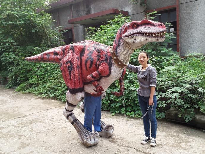 walking dinosaur costume Raptor for sale