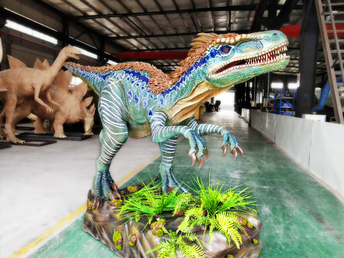 Animatronic Velociraptor dinosaur robot for sale