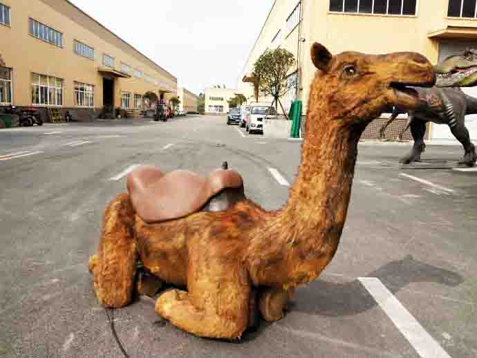 Realistic robotic camel with furs
